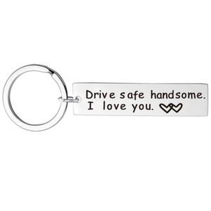 Jewelry - NEW Silver Boyfriend/Husband Be Safe Love Keychain